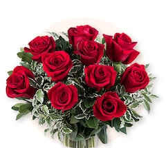 Promesse Rouge : 10 Roses Rouges